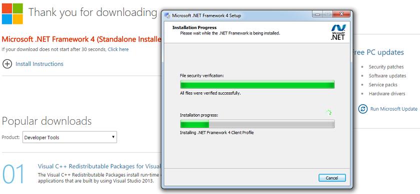 dot net framework 4 offline installer free